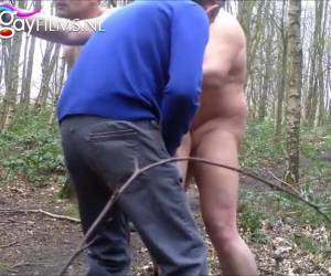 Gay cruising in the woods sex video to prove it