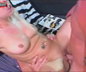 Two men fuck at the same time, the pussy and anus of the girl