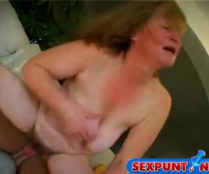 Grandma whiteh big saggy tits let horny fuck